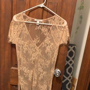 Forever21 Contemporary Sheer Custom Dress M Stoned